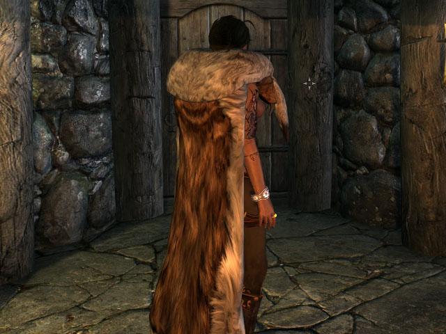 Мод на Меховые Плащи в Скайриме